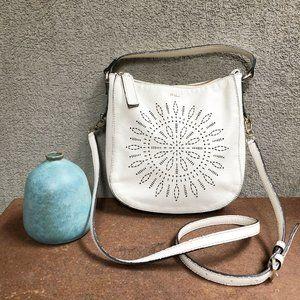 Furla Leather Perforated Crossbody Handbag Purse